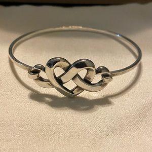 James Avery heart knot hook on bracelet